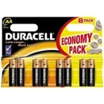 Duracell Bateria AA/8 LR6 Economy Pack