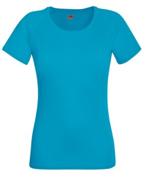 T-SHIRT LADIES PERFORMANCE 61392 AZURE