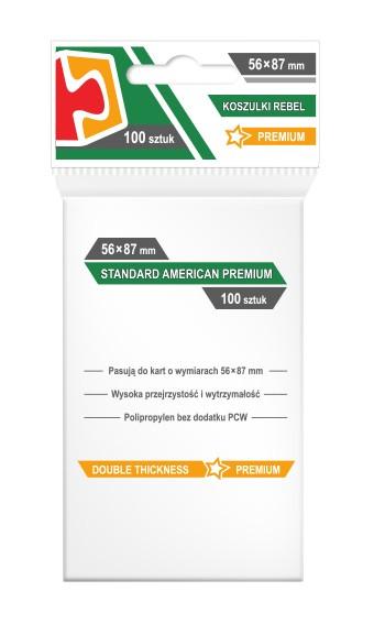 Koszulki na Karty Rebel (56x87 mm) Standard American Premium 100 sztuk