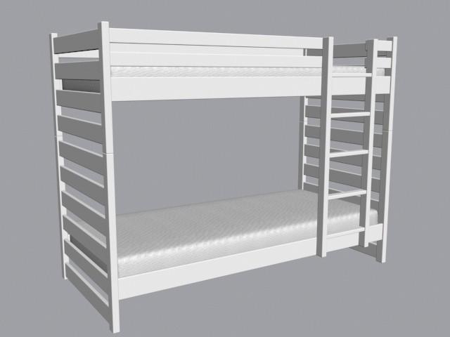 łóżko Piętrowe Dino 90x200 Biały Kryj