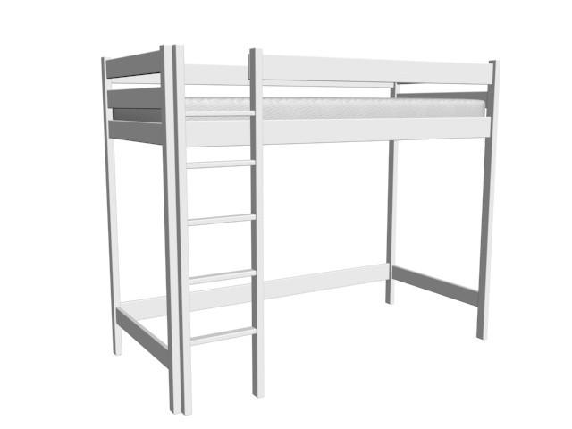 łóżko Antresola Roberto 90x200 Biały