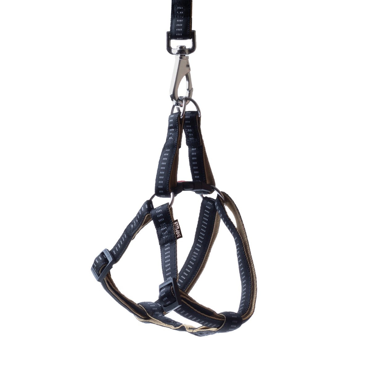 Soft nylon harness black size XL 2.5cm