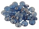 Glass ornaments flat light blue