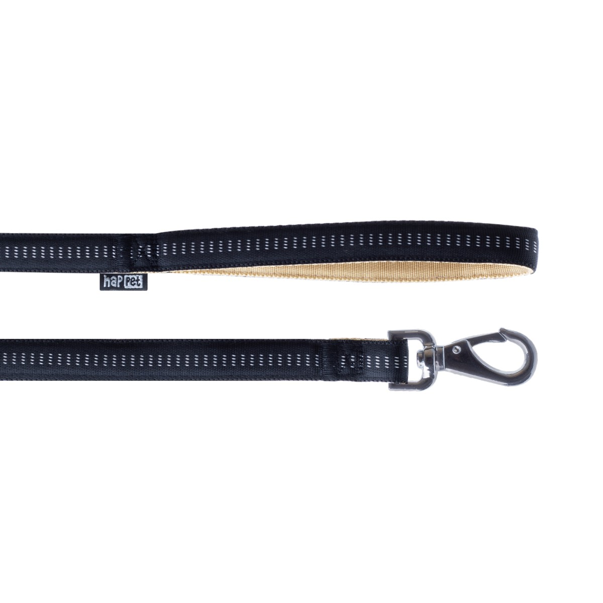Soft nylon leash black size XL 2.5cm