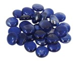 Glass ornaments flat dark blue