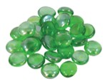 Glass ornaments flat green