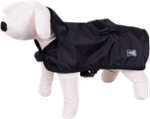 Raincoat Dog Cape - Happet 291A - Black XS - 30cm