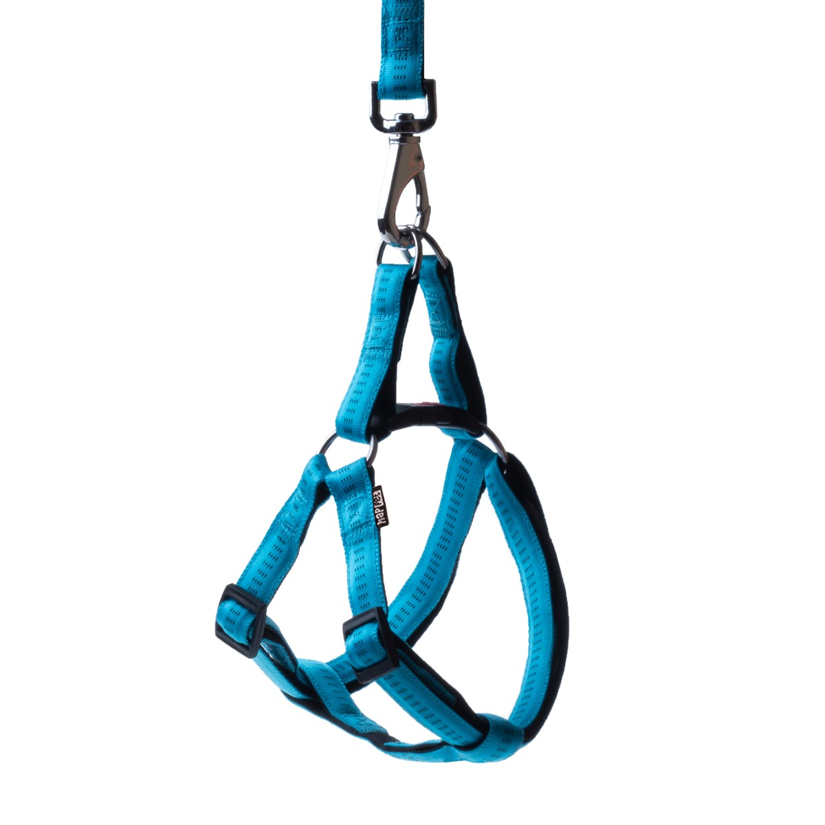 Soft nylon harness turquoise size XL 2.5cm