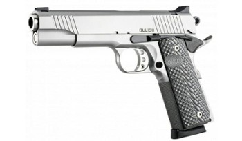 Pistolet BUL 1911 Government Silver k. 9mm Luger