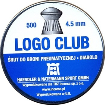 Śrut pneum. 4,5mm H&N Logo Club