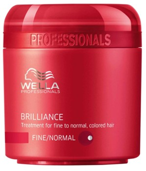 WELLA Maska do włosów farbowanych 150ml Brillance Fine/Normal
