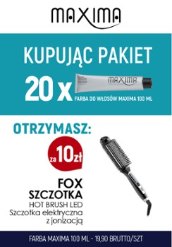 Farba MAXIMA x 20 + Hot Brush FOX szczot