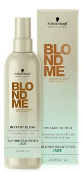 SCHWARZKOPF BlondMe Instant Blush, Zielony toner do włosów, 250ml