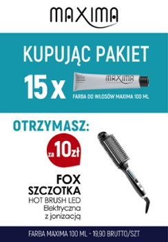 Farba MAXIMA x 15 + Hot Brush FOX szczot