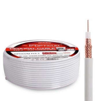 Kabel Coaxial RG6 OPTICUM FCS-1/100M