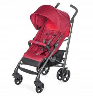 CHICCO lite way 3 top red berry wózek