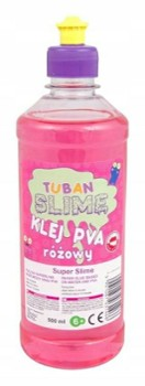 TUBAN klej do slime różowy PVA 500ml