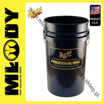 Meguiar's Professional Wash Bucket-Black 18,9l Wiadro do Mycia Auta