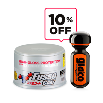 SOFT99 Protection Set Fusso Coat Light + Ultra Glaco Zestaw