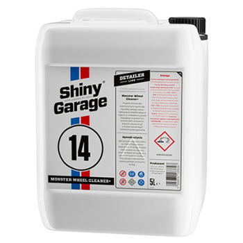 SHINY GARAGE 14 Monster Wheel Cleaner + Gel 5l Preparat do Mycia Felg
