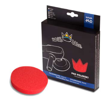 ROYAL PADS Pro Soft Pad Polishing 80mm Pad Czerwony Miękki