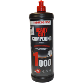 MENZERNA 1000 Heavy Cut Compound 1l Pasta Polerska Mocno Ścierna pod Pady Polerskie