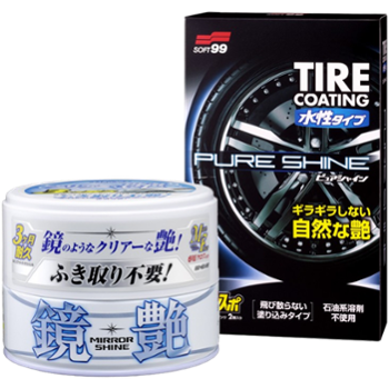SOFT99 Mirror Shine Wax Light 200g + Tire Coating