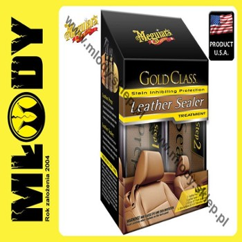Meguiar's Gold Class Leather Sealer Treatment Zestaw do Tapicerki Skórzanej, 2X177ml+Pad+Mikrofibra