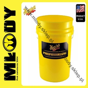 Meguiar's Professional Wash Bucket-Yellow 18,9l Wiadro do Mycia Auta