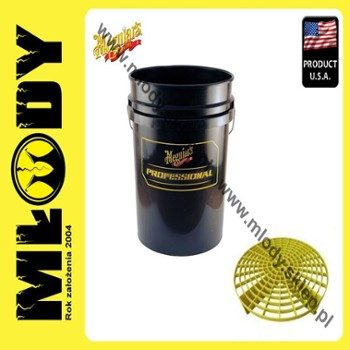 Meguiar's Professional Wash Bucket With Grit Guard-Black Wiadro do Mycia Auta z Separatorem (Czarne)18,9l