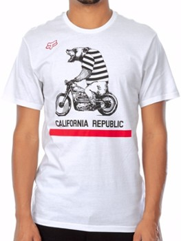 T SHIRT FOX BEAR REPUBLIC OPTIC WHITE