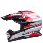 KASK LS2 MX456.48 FACTORY WHITE BLACK XL