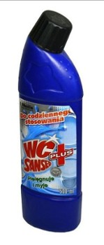 WC PŁYN SANSED PLUS 0.5L DOZ.