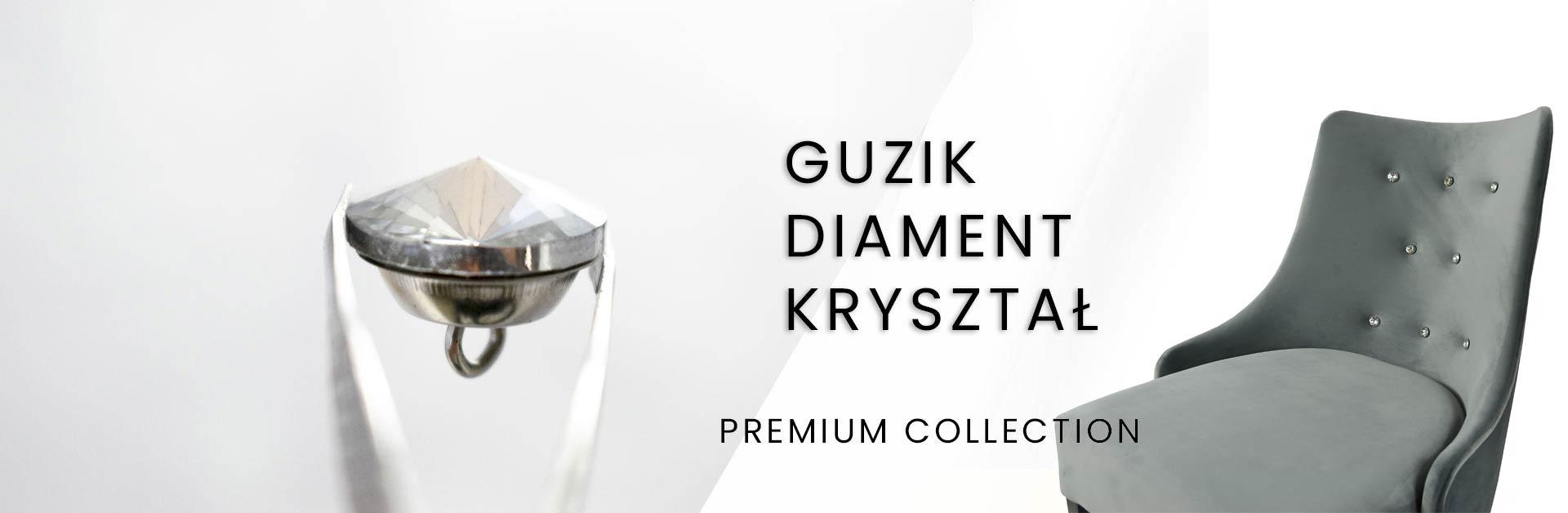 Guzik meblowy Diament GB kryształ