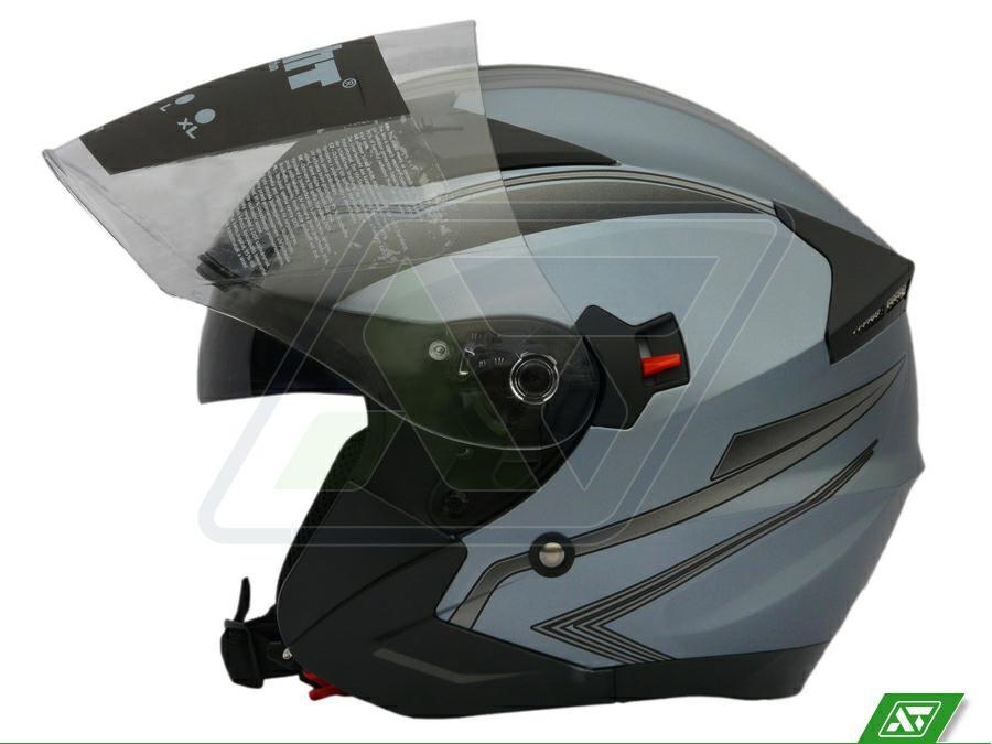 Kask motocyklowy Kask Na Skuter Z Blendą Hecht 52627 L 59 60
