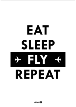 Plakat EAT SLEEP FLY REPEAT