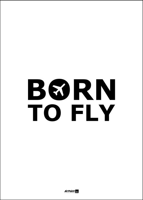 Plakat BORN TO FLY