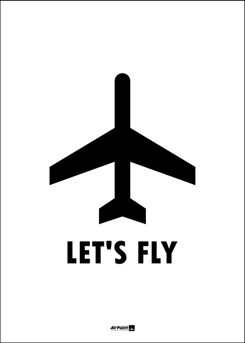 Plakat LET'S FLY