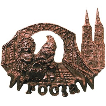 Metal magnet (copper) POL-MM-093 Wroclaw