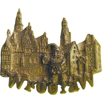 Metal magnet (bronze) POL-MM-102 Wroclaw