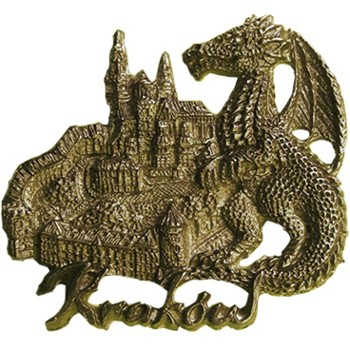 Metal magnet (bronze) POL-MM-092 Krakow