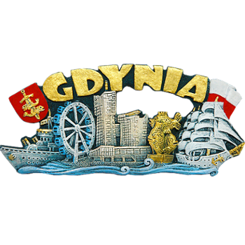 Polyresin magnet. Cartoon. Gdynia