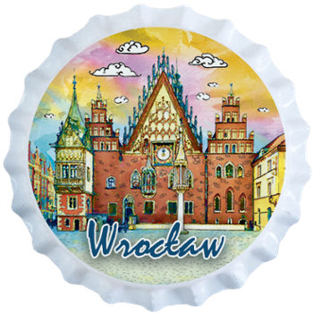 POL-BC-339 Beer Caps Magnet Wrocław