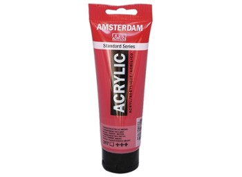 Amsterdam Acrylic Transp Red Med 120ml