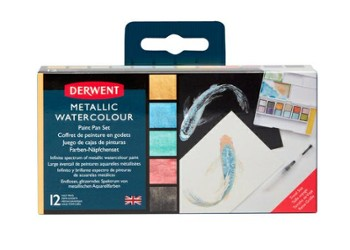DERWENT METALLIC PAINT 12 PAN PALETTE