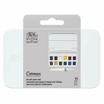 W&N Cotman BRUSH PEN SET 12HP