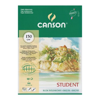Blok Rysunkowy STUDENT A4 Canson 150g