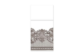 Etui pocket Airlaid Royal Lace Brown