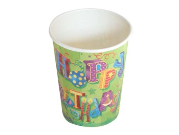 Happy Birthday II Kubki pap. 260ml, 6szt