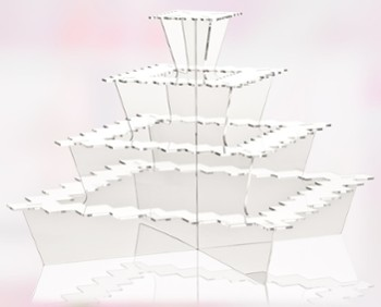 Display fingerfood PIRAMIDE transparent
